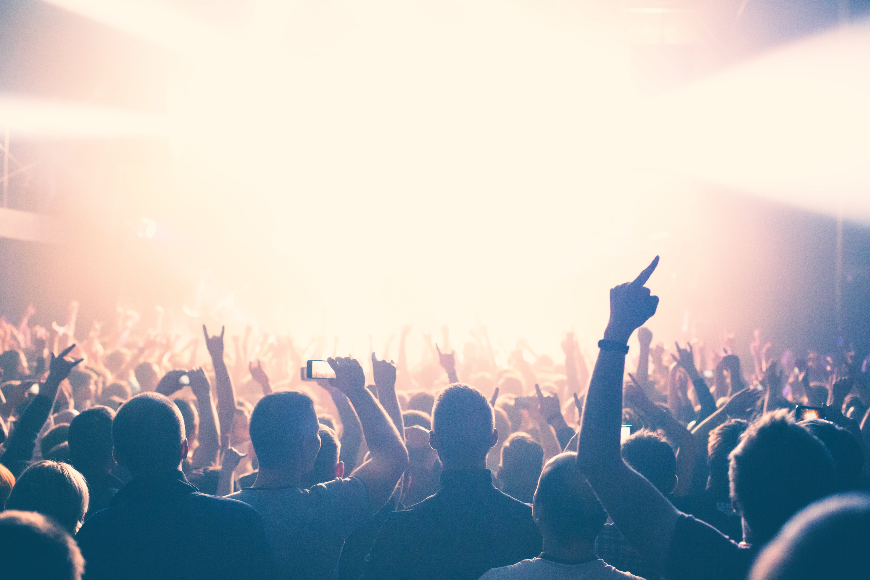 コンサートを楽しむ観客の写真